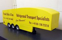 KCR Aero Body for Wedico Trailer Chassis. Yellow