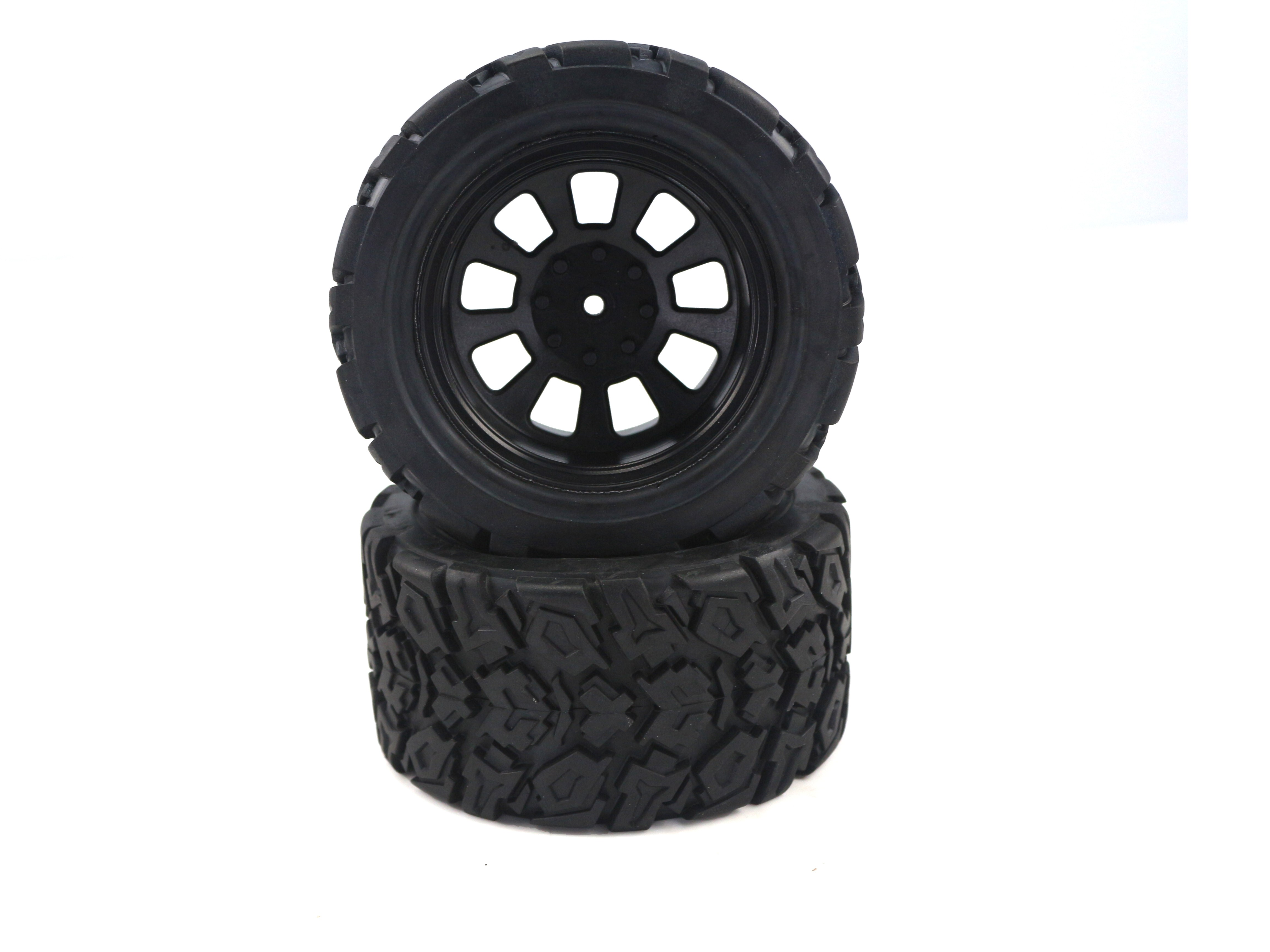 Himoto Monster Truck Wheels and Tyres. 1pr