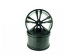Himoto E10 Black Rims . 2pcs