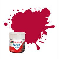 Humbrol Carmine RC423 14ml Acrylic Rail Paint. 14ml