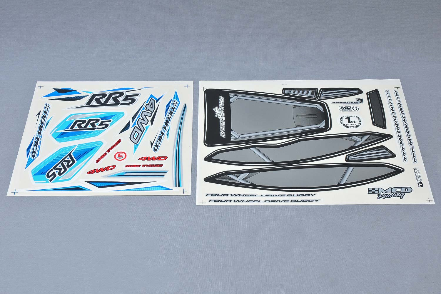 MCD Racing RR5 Body Shell Decal / Sticker Set. 1pc