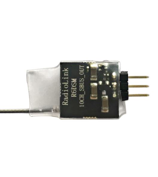 RadioLink R6DSM Micro 10 Channel SBUS Rx for Racing/FPV Drone. AT9/AT10