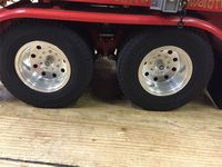 KCR Slotted Alloy Wheels for 1.14 scale Tamiya Truck - 3 Axle