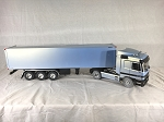 Wedico 1/16th Mercedes Actros Ltd. Edition Pearl Blue with Box Trailer