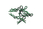 Himoto Body Clip Small - Green. 10pcs #BCS-002G