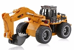 Huina Excavator 6 Channel 1/18 Scale w/Die Cast Bucket #1530