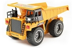 Huina Dump Truck 6 Channel 1/18 Scale w/Die Cast Cab #1540