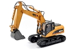 Huina Excavator 15 Channel 1/14 Scale w/Die Cast Bucket #1550