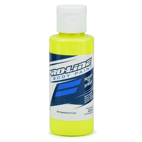 Pro-Line RC Body Paint - Fluorescent Yellow. 60ml