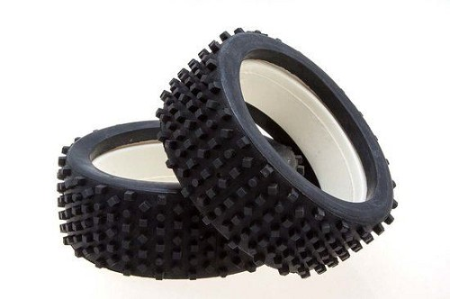 MCD Racing Soft (BS) Block Stud Tyre and Foam. 2pcs