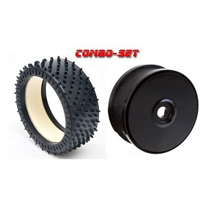 MCD Racing Hard (WH) Astro-Max Tyre, Foam and Black Disc Wheel. 2pcs