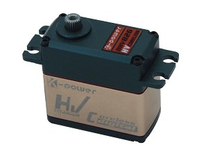 K-Power DHV826 HV Digital Coreless Servo with Alloy Case. 25.7Kg / 0.11s